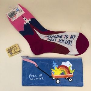 Blue Q Socks and Pencil Pouch